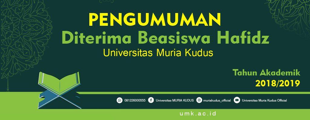 Beasiswa Universitas Muria Kudus
